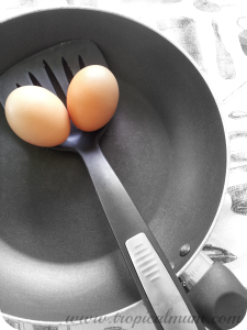 Eggs in a frying pan