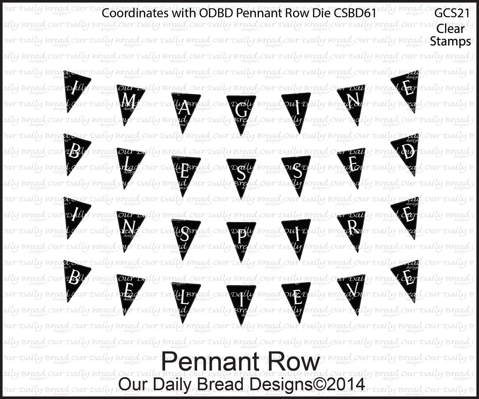 Stamps - Our Daily Bread Designs Pennant Row