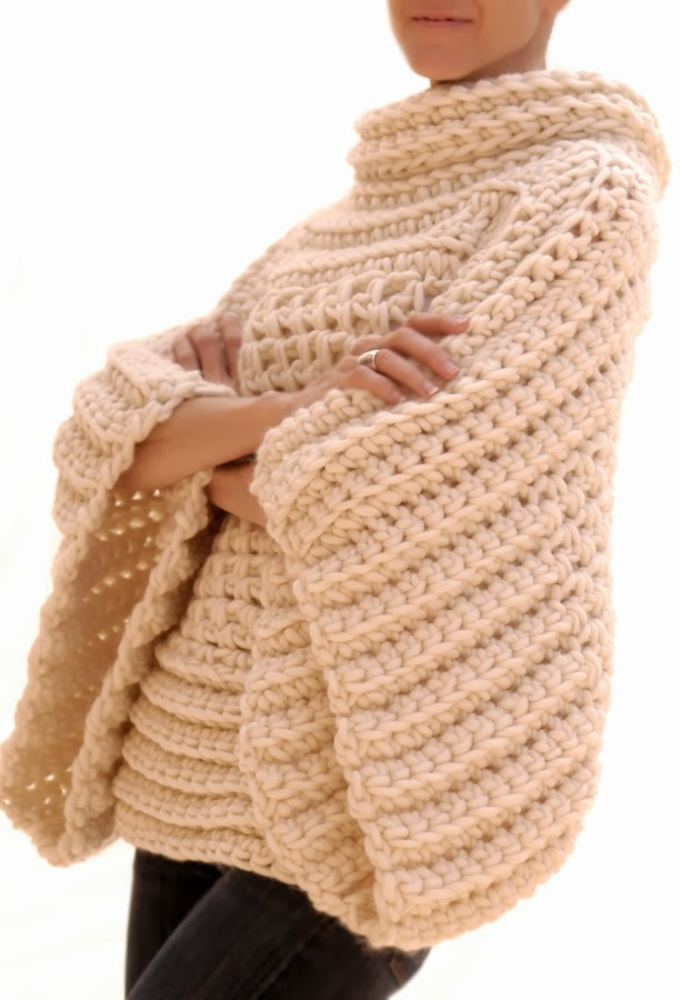 Crochet Patterns Sweater : Knit 1 LA: the Crochet Brioche Sweater