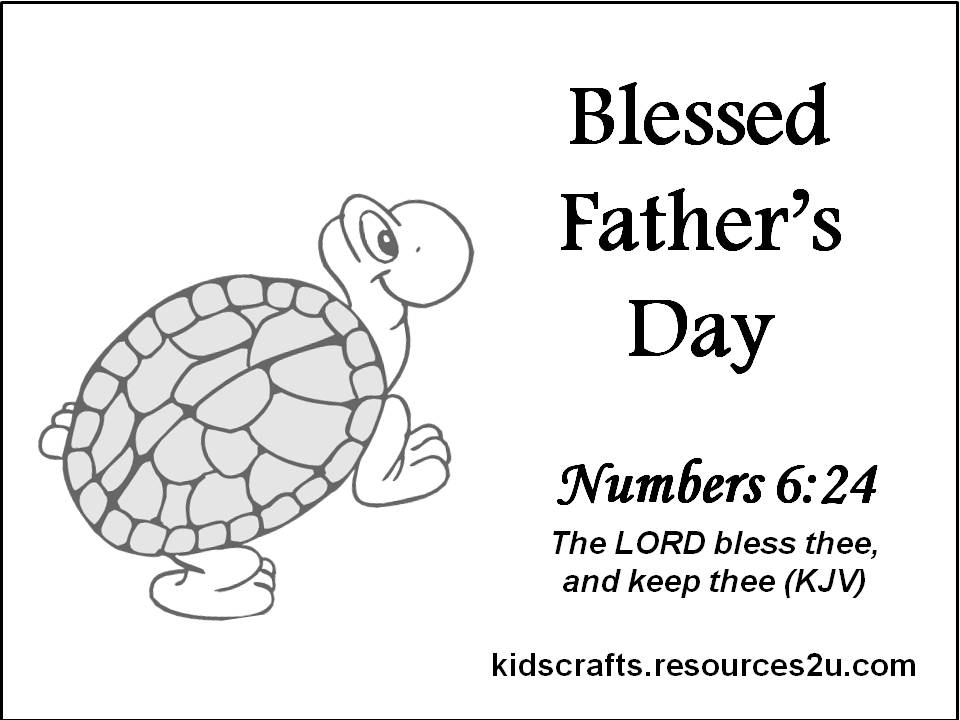 Believers Encouragements: Christian Father\'s Day Card for coloring