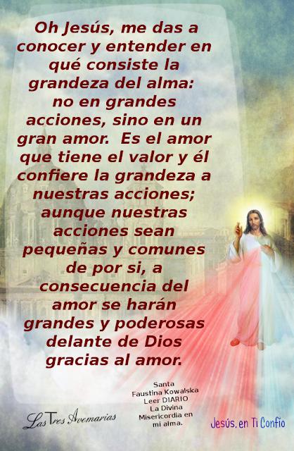 anotacion de santa faustina hacerca del amor