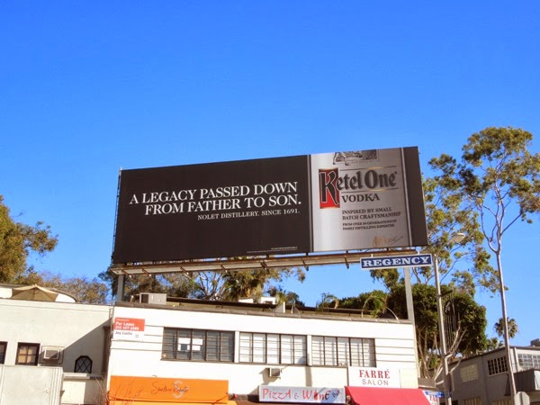Ketel One Vodka Legacy passed father son billboard