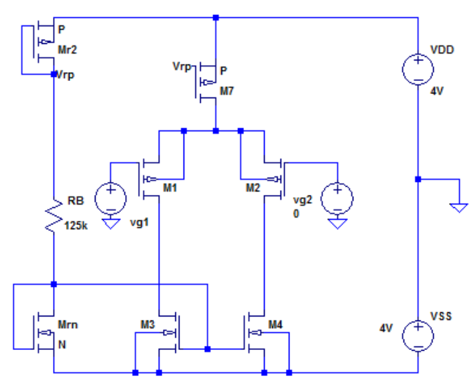 Mosfet Differential Amplifier Simulation Tutorial Part 4 Basics