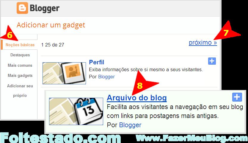 como faz para colocar gadget menu arquivo no meu blog do blogger nova interface atualizada