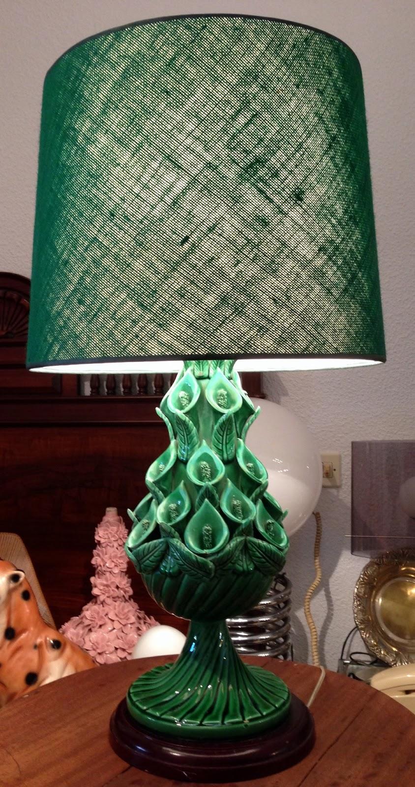 Vintage kitsch siglo xx lampara de ceramica de manises - Lamparas de ceramica ...