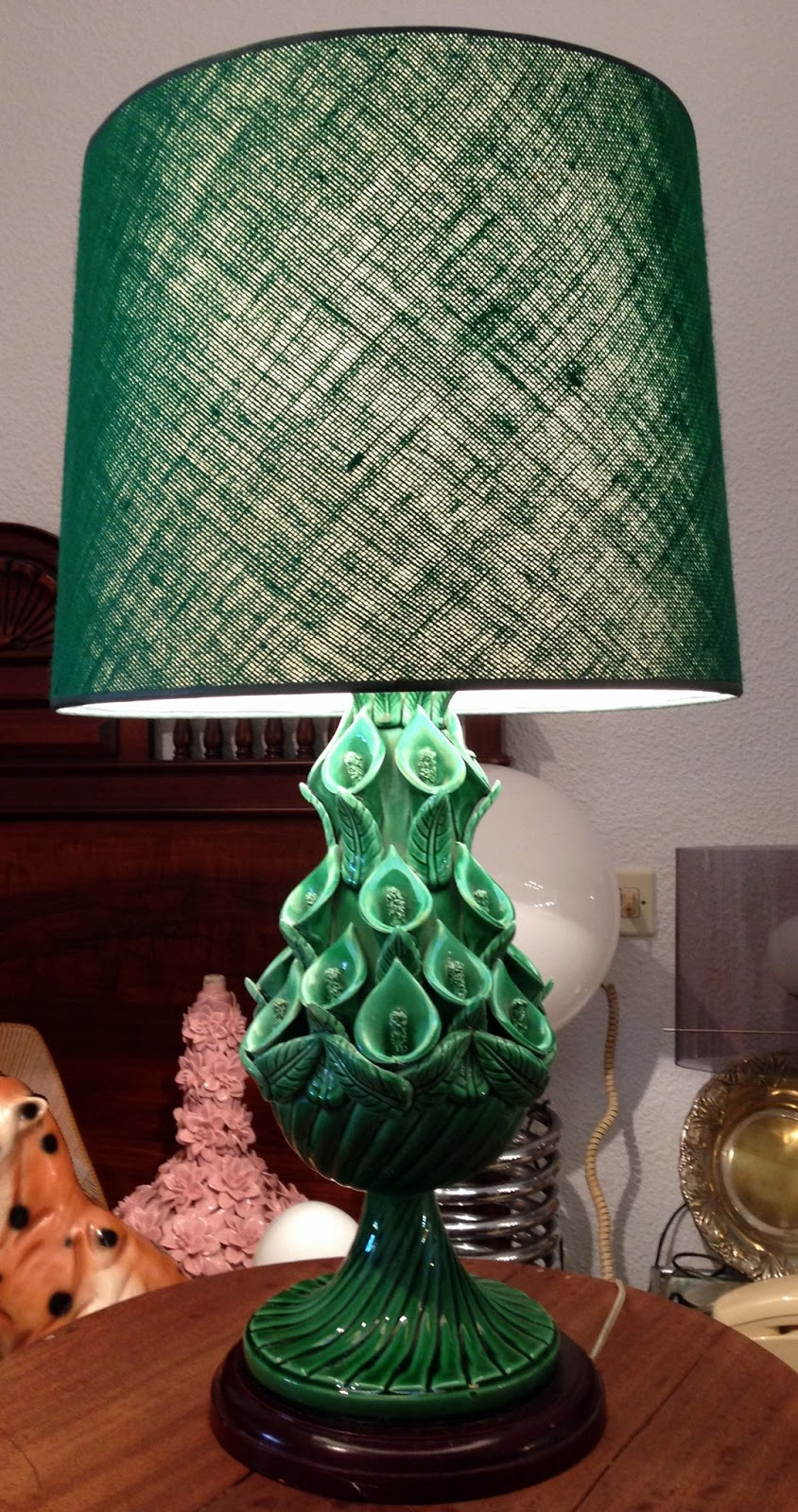 Vintage kitsch siglo xx lampara de ceramica de manises for Lamparas de ceramica