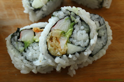 close up of a Lisa Lisa sushi roll