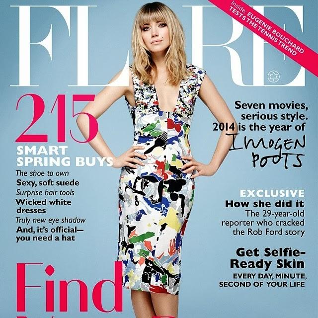 Imogen Poots en portada de Flare Magazine marzo 2014