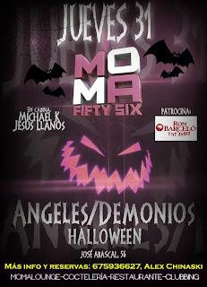 MOMA Fifty Six Jueves 31 de octubre HALLOWEEN