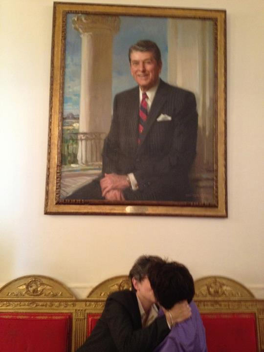 gays flipping off reagan and bush