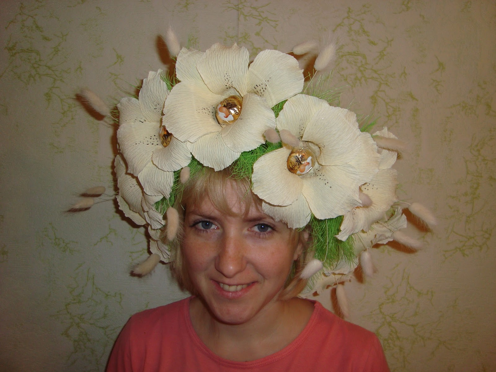 Цветок из бумаги на голову своими руками 760