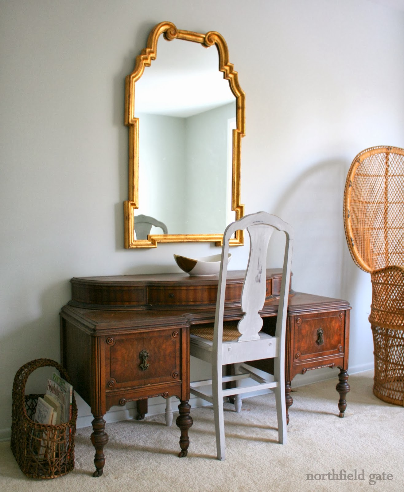 Antique commode chair - I Think The Rattan Chair Is Providing The Much Needed Texture In This Picture I Actually Moved The Chair Closer To The Commode When I Took The Picture So