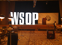 The stage in the Pavilion room at the WSOP