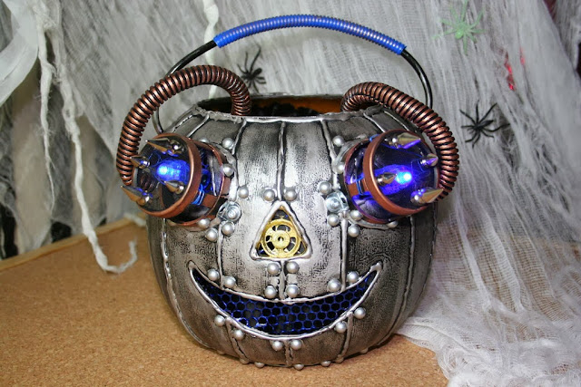 Steam Punk Pumpkin Art by Yami Guru