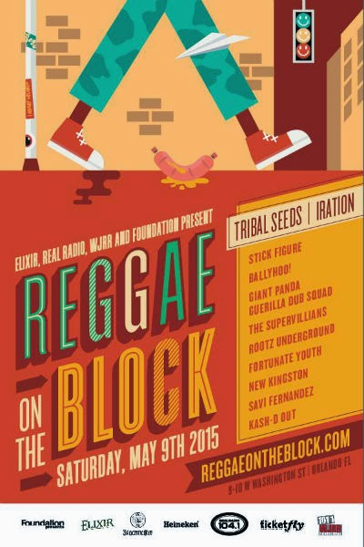 Orlando Reggae on the Block flyer