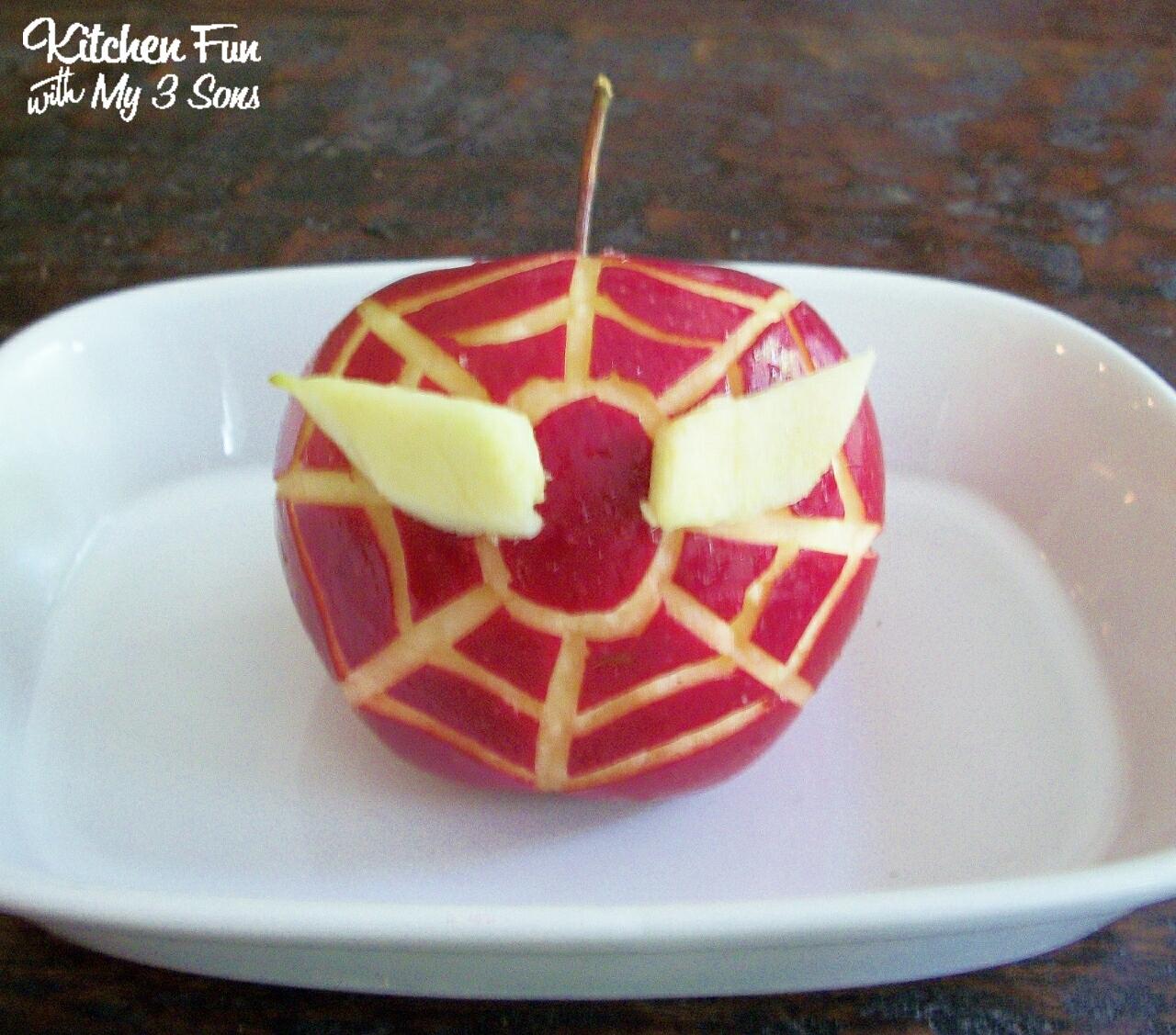 Apple Bottom Spider Spider Man Apple Snack
