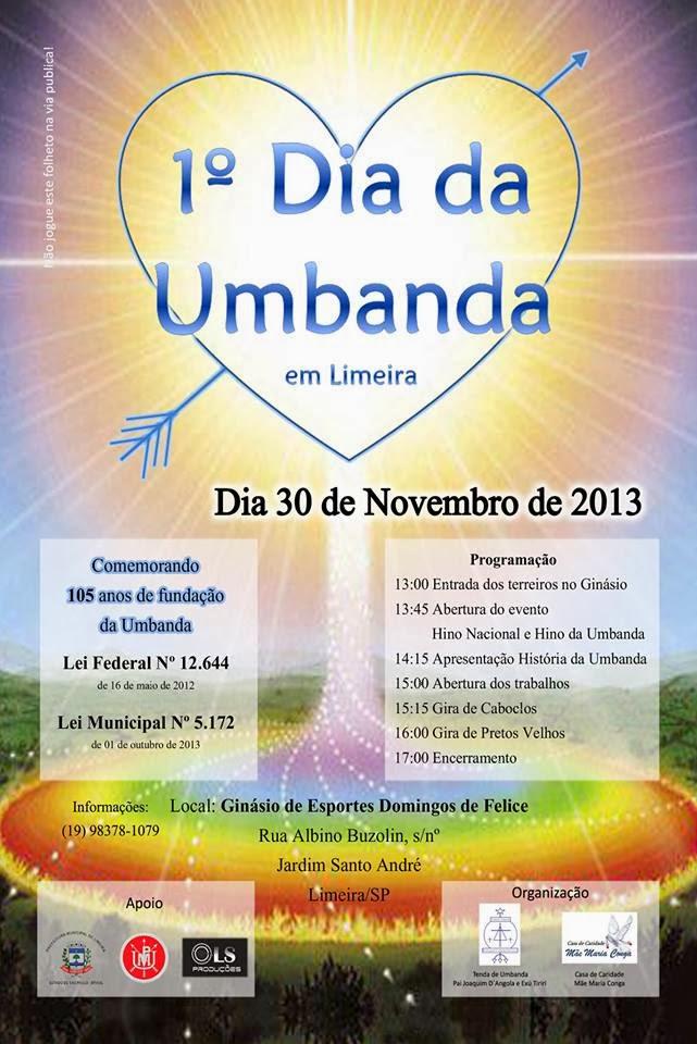 1° Dia da Umbanda em Limeira