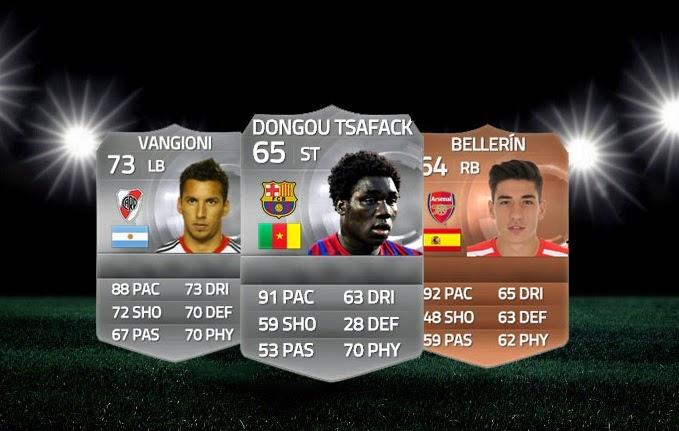Híbrido de plata Dongou - Vangioni - Bellerín FIFA 15 Ultimate Team