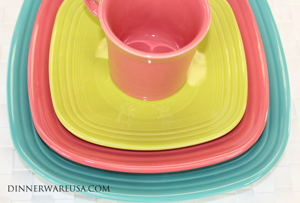 Square Fiesta Plates \u0026 Mug - This Fiesta grouping really pops and makes for a vibrant table. Colors Shown Turquoise Fiesta Flamingo Fiesta \u0026 Lemongrass ... & Dr. Dinnerware: Flamingo Fiesta Pictures - Our Favorite Fiestaware ...