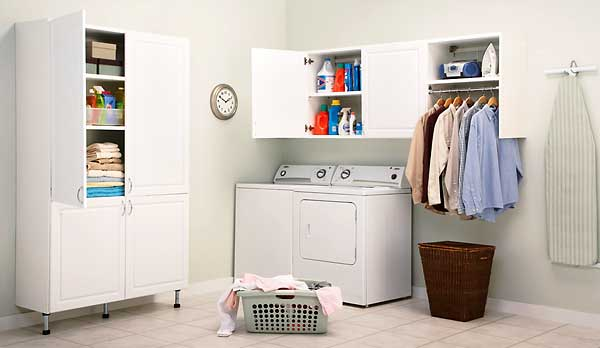 Laundry Room Storage Cabinets Interior Decorating