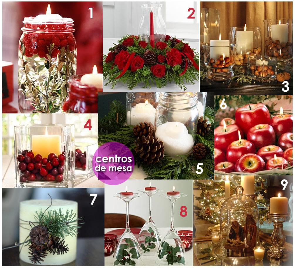 En la botica viste tu casa de navidad adornos y centros - Adornos navidenos para mesas ...