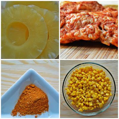 Sałatka hawajska - składniki