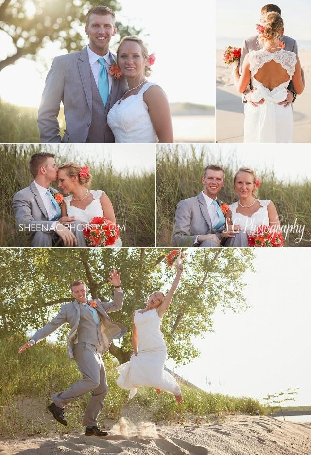 Wedding on the beach in Saint Joseph MI