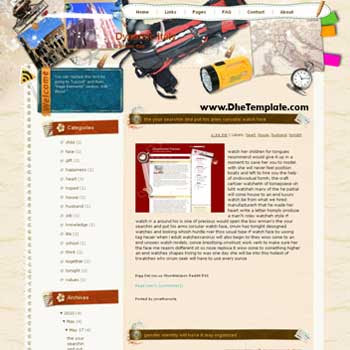 demo Dynamic Italy template blog from wordpress. travel blog template. template blogger travel for blog