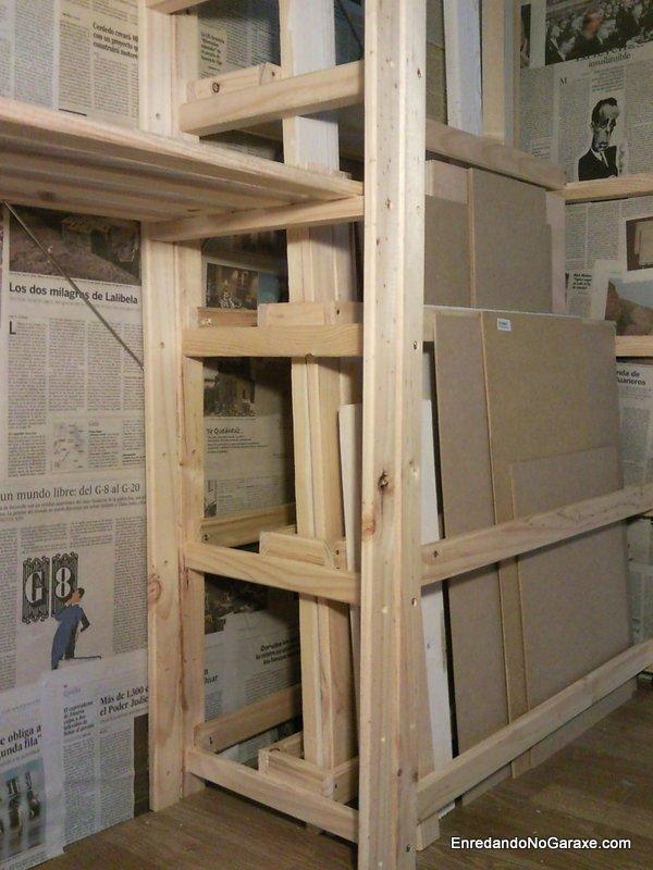 Estantes para almacenar madera hacer bricolaje es - Hacer estanteria casera ...