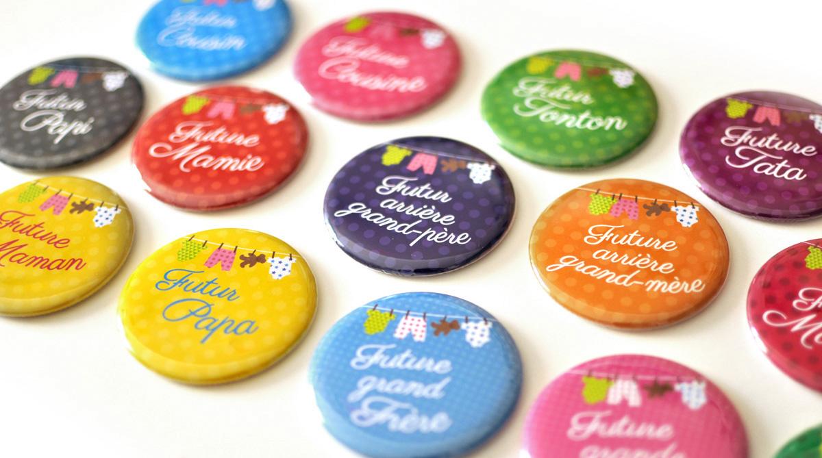 bulles de neige badges personnalis s evjf mariage anniversaire magnets pour annonce. Black Bedroom Furniture Sets. Home Design Ideas