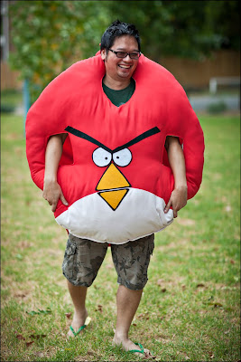 handmade red angry bird costume