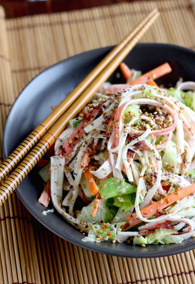 Kani Salad (Japanese Crab Salad) recipe by SeasonWithSpice.com
