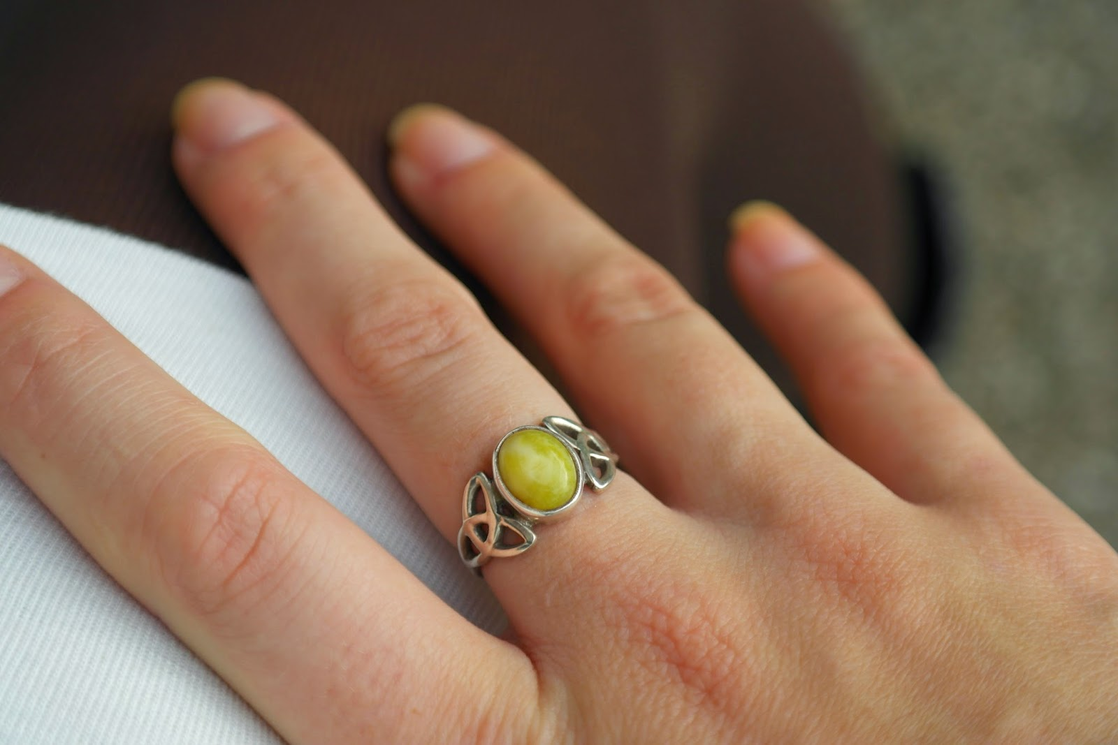 Scottish marble ring