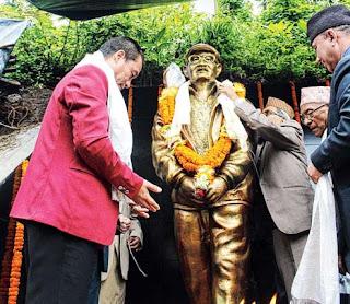 Bimal Gurung unveils Kaman Singh Ramudamu statue in Darjeeling