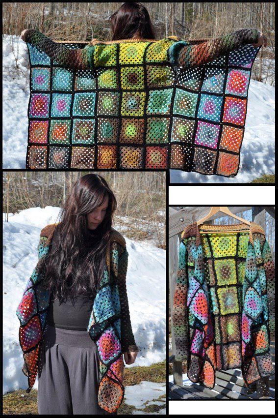 sweter z kwadratow babubi