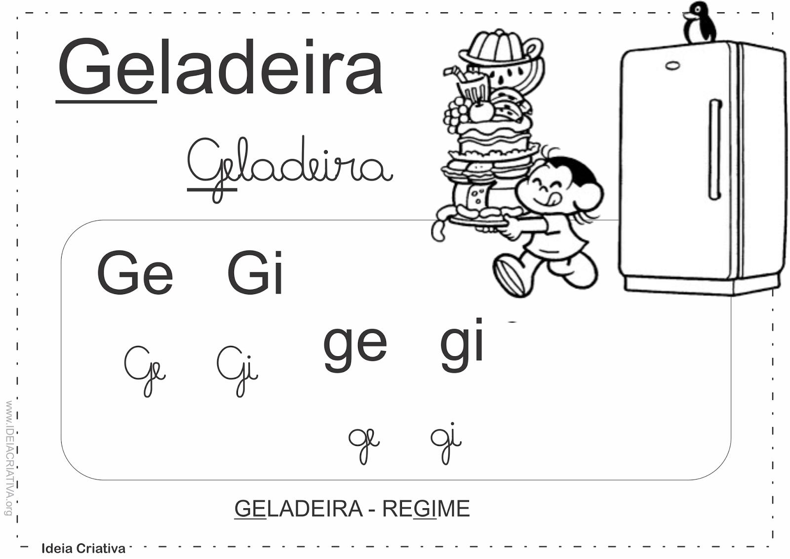 Cartazes Sílabas Complexas Dificuldades Ortográficas Turma da Mônica