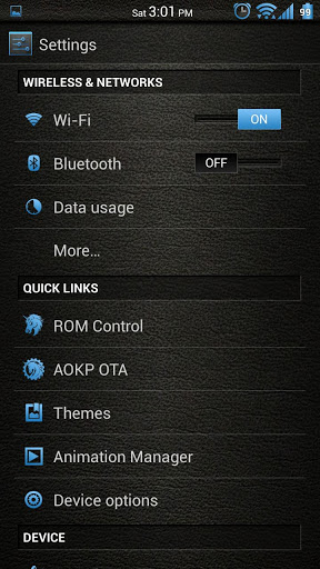 Blue Leather CM10/AOKP Theme apk