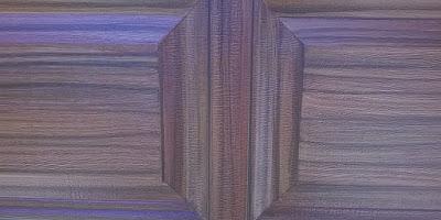 wood grain painted on garage door