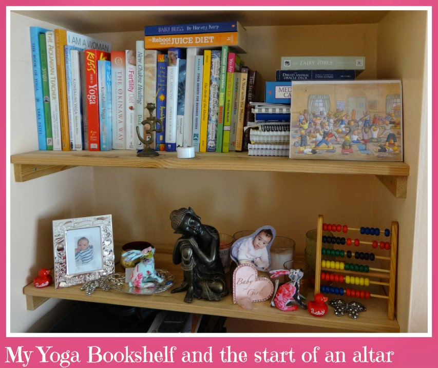 My yoga shelf and altar