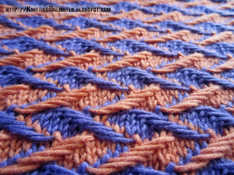 Jacquard Knitting Patterns : Zig-zag Jacquard Dishcloth - Knitting Unlimited