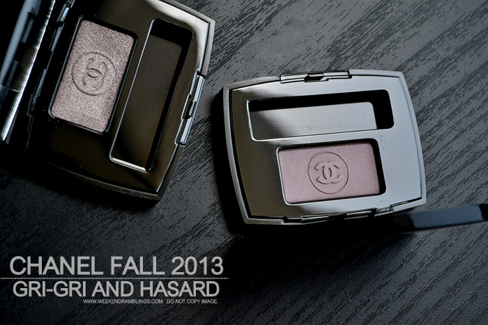 Chanel Ombre Essentielle Soft Touch Single Eyeshadows - Gri-Gri -Hasard - Fall 2013 Superstition Makeup Collection - Photos Swatches FOTD Review