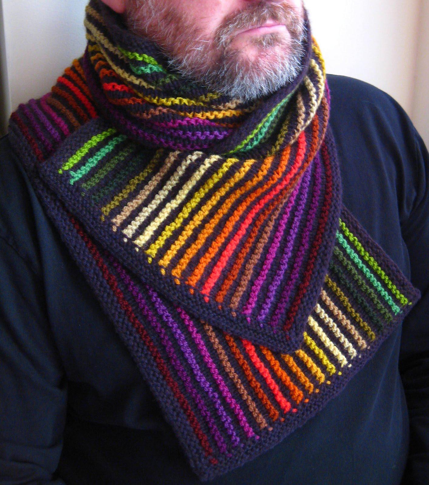 Радужный шарф 4