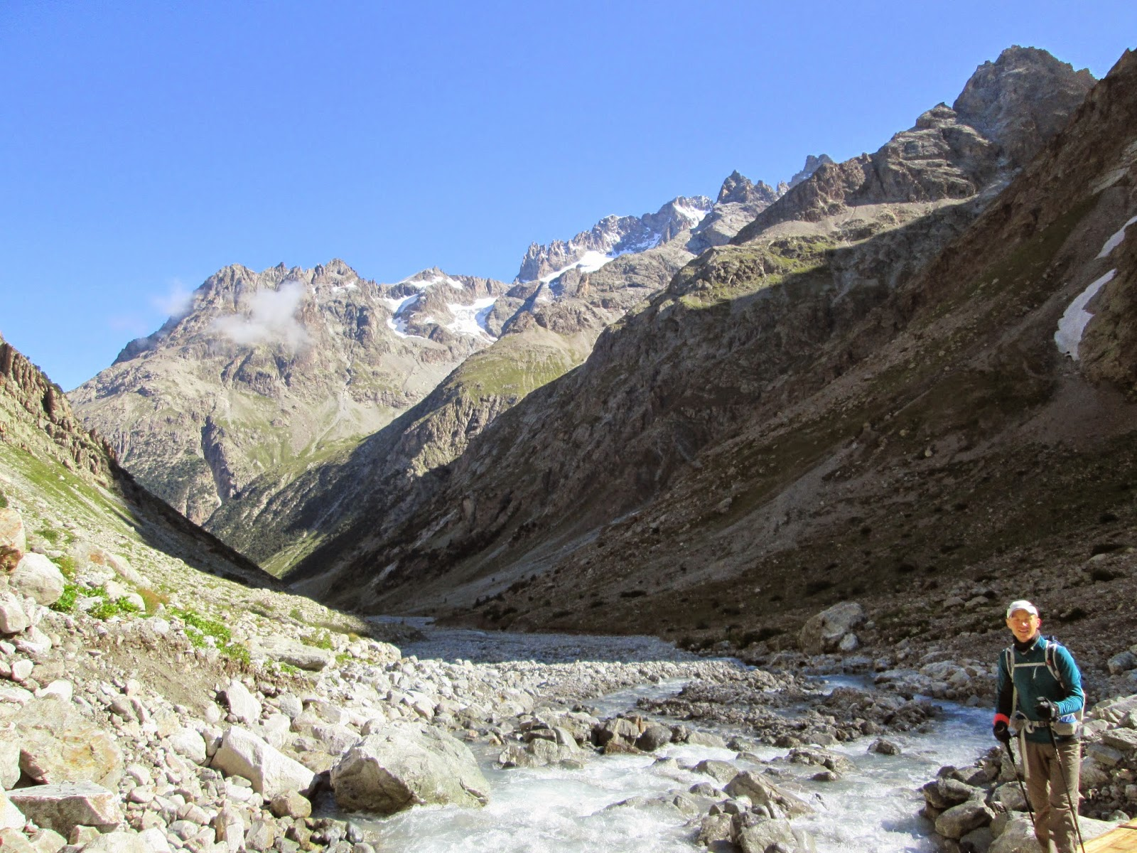 En route to Glacier de la Pilatte, Ecrins National Park, Alps France
