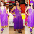 Banaras Net Purple Salwar Kameez