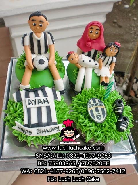 Cupcake Tema Keluarga Juventus Daerah Surabaya - Sidoarjo