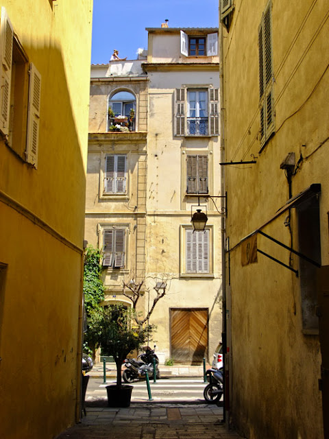 Beautiful streets of Ajaccio, Corse