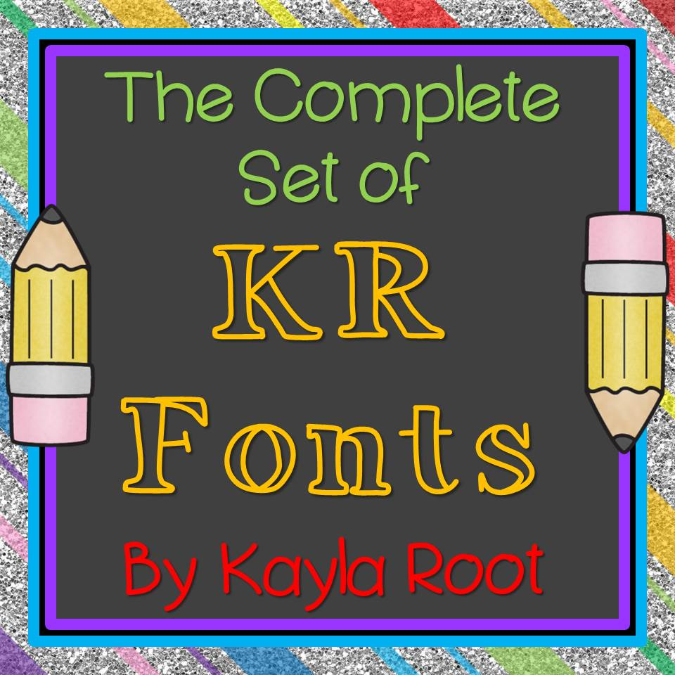 The Chalkboard Garden Growing Complete Set Of Kr Fonts