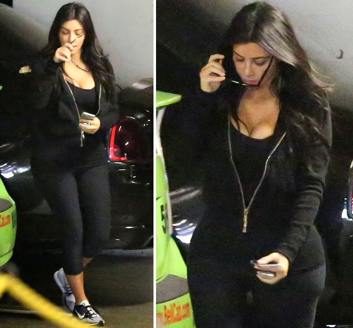 PAPARAZZI PHOTOS - Kim Kardashian Visits Doctor For pregnancy Test!