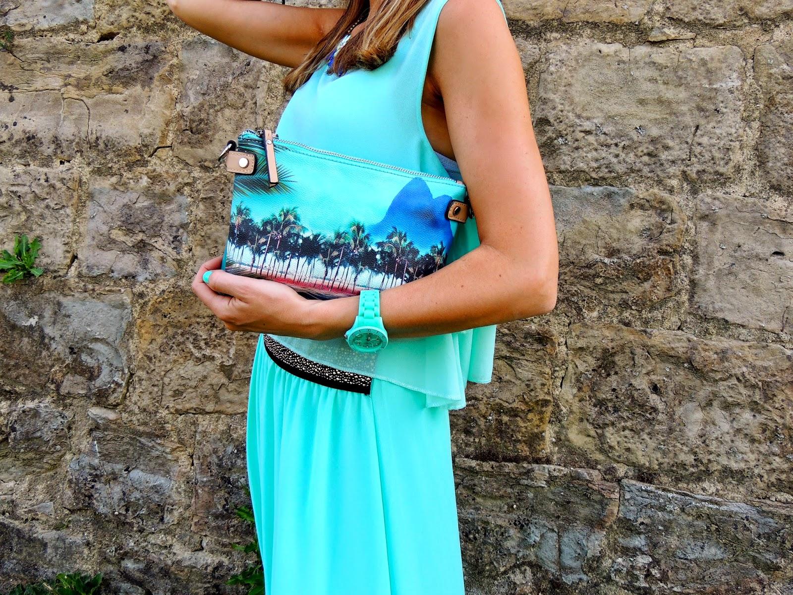 aquamarine skirt