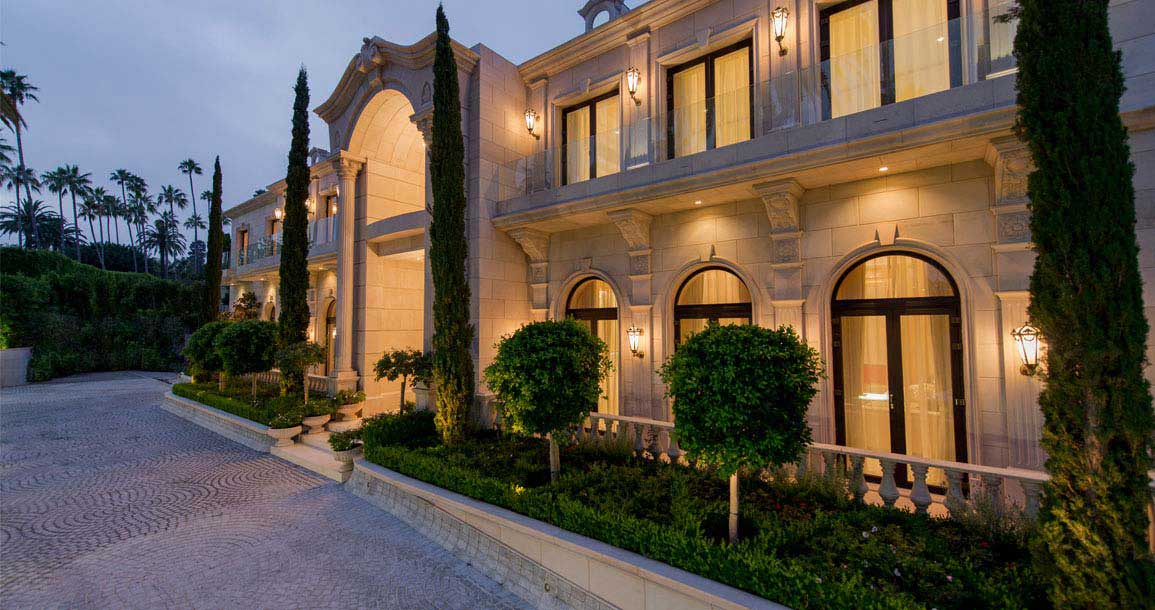 Homes Mansions Le Palais The Crescent Palace In Beverly Hills CA